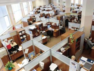 חללי עבודה במשרד גדול