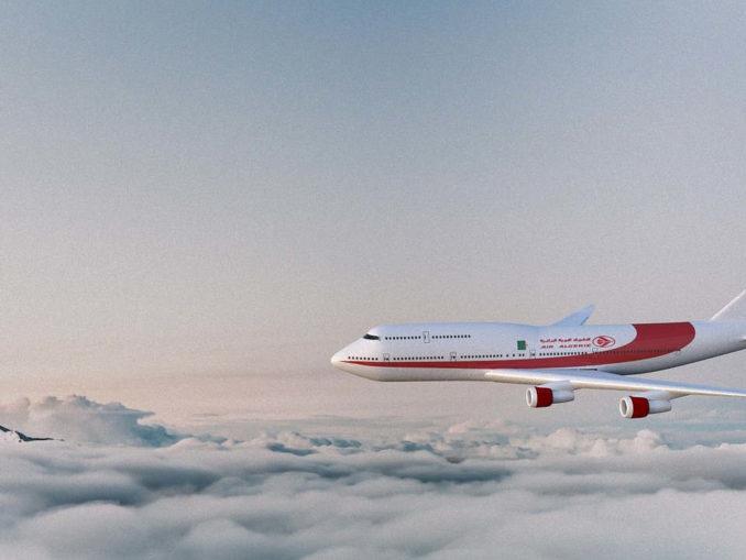 מטוס טס בשמיים מעל העננים